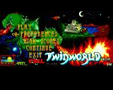 TwinWorld: Land of Vision Acorn 32-bit Title screen
