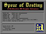 Spear of Destiny DOS Install processing to play game