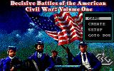 Decisive Battles of the American Civil War, Volume One DOS Title Screen and Main Menu (EGA)