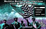 Decisive Battles of the American Civil War, Volume One DOS Title Screen and Main Menu (CGA)