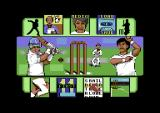 World Cricket Commodore 64 Menu screen.