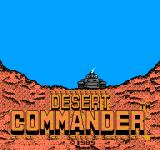Desert Commander NES Title Screen