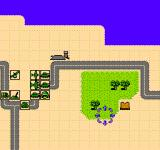 Desert Commander NES First level's starting position of side 1