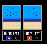Desert Commander NES An animated battle between 2 opposing forces of fighter planes