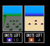 Desert Commander NES A group of cannons strafe at enemy tanks