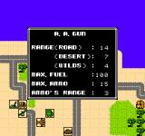 Desert Commander NES You can call up specific information on any unit to aid your strategy