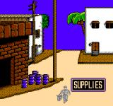 Desert Commander NES It's important to replenish fuel and ammo with supplies; either from villages or supply trucks
