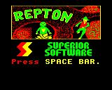 Repton Electron Title screen