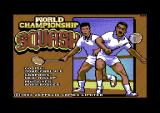 World Championship Squash Commodore 64 Loading screen.