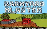 Barnyard Blaster Atari 7800 Title screen
