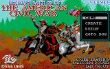 Decisive Battles of the American Civil War, Vol. 2 DOS Title and Main Menu (EGA)