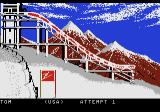 Winter Games Atari 7800 Preparing for the ski jump