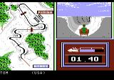 Winter Games Atari 7800 The bobsled