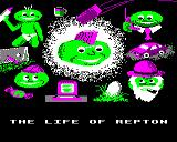 The Life of Repton Electron Title screens