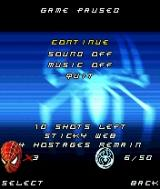 Spider-Man 2 N-Gage Pause menu with some game info