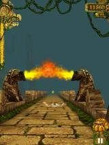 Temple Run iPad Slide under fire gates!