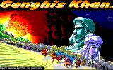 Genghis Khan Amiga Title screen