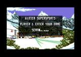 Winter Supersports 92 Commodore 64 Enter your name.