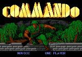 Commando Atari 7800 Title screen