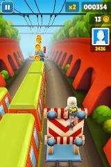 Subway Surfers iPhone Jumping over obstacles