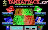 Tank Attack DOS Title screen and main menu