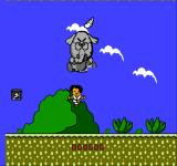 Koko Adventure NES Boss battle against a giant elephant