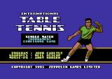 Table Tennis Commodore 64 Title screen.