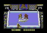 Wrestling Superstars Commodore 64 Round one.