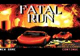 Fatal Run Atari 7800 Title screen