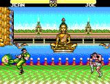 Jang Pung 3 SEGA Master System Battle with a Buddha statue