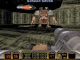 Duke Nukem 3D DOS The Moonbase Overlord at the end of Episode 2