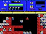Blow Up! MSX Dig through dirt and try to drop a boulder onto a grabber