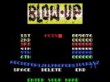 Blow Up! MSX Game over, enter your name