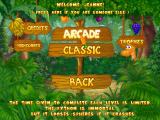 Funky Python Windows Choose Arcade or Classic mode