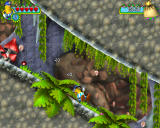 Jumpin' Jack Windows Sliding down a steep hill catches all of the coins, but also destroys any lurking enemies.