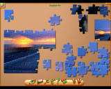 Jigsaw World Windows Working on the puzzle