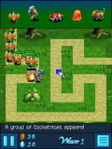 Crystal Defenders J2ME Game in progress