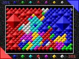7 Colors DOS An easy game with few, large diamonds. Players expand their territory by recoloring it to match adjancent stones.