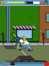 The Simpsons Arcade J2ME Homer goes berserk