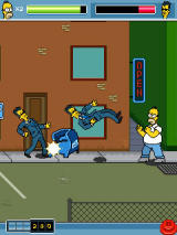 The Simpsons Arcade J2ME You can throw objects