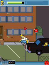 The Simpsons Arcade J2ME Mayor Quimby is throwing grenades