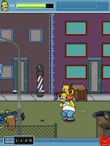 The Simpsons Arcade J2ME Bart as a powerup