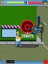 The Simpsons Arcade J2ME Boss battle