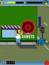The Simpsons Arcade J2ME Homer's victory dance