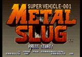 Metal Slug: Super Vehicle - 001 SEGA Saturn Title screen