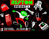 Repton Infinity Electron Title screen