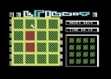 Flippit Commodore 64 Clicking on a square will change it's colour and other squares around it.