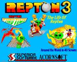 Repton 3 Acorn 32-bit Title screen