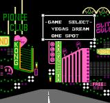 Vegas Dream NES Main Menu