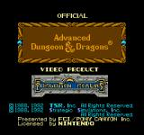 Hillsfar NES Title Screen 1